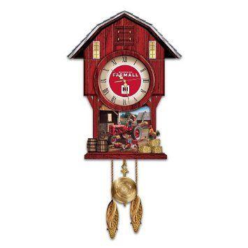 Amazon Com Farmall Times Barn Shaped Cuckoo Clock By The