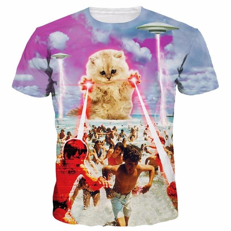 BlountDecor Cotton T-Shirt,Natural Motifs Ornament Fashion Personality Customization
