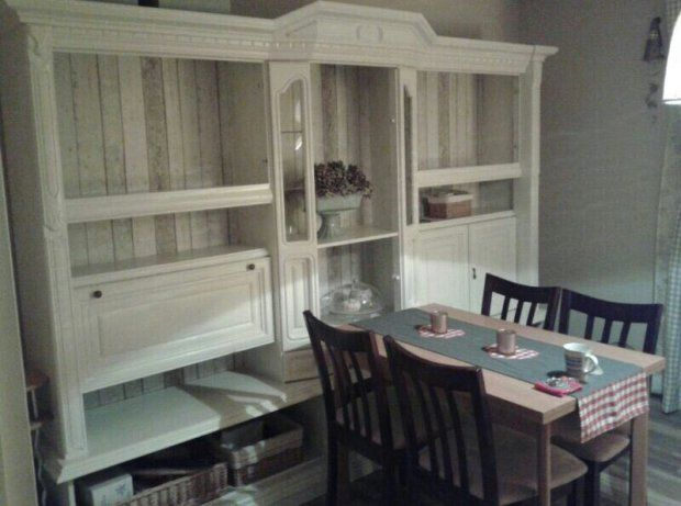 Vorher-Nachher Der Esszimmerschrank Haus - küche lackieren vorher nachher