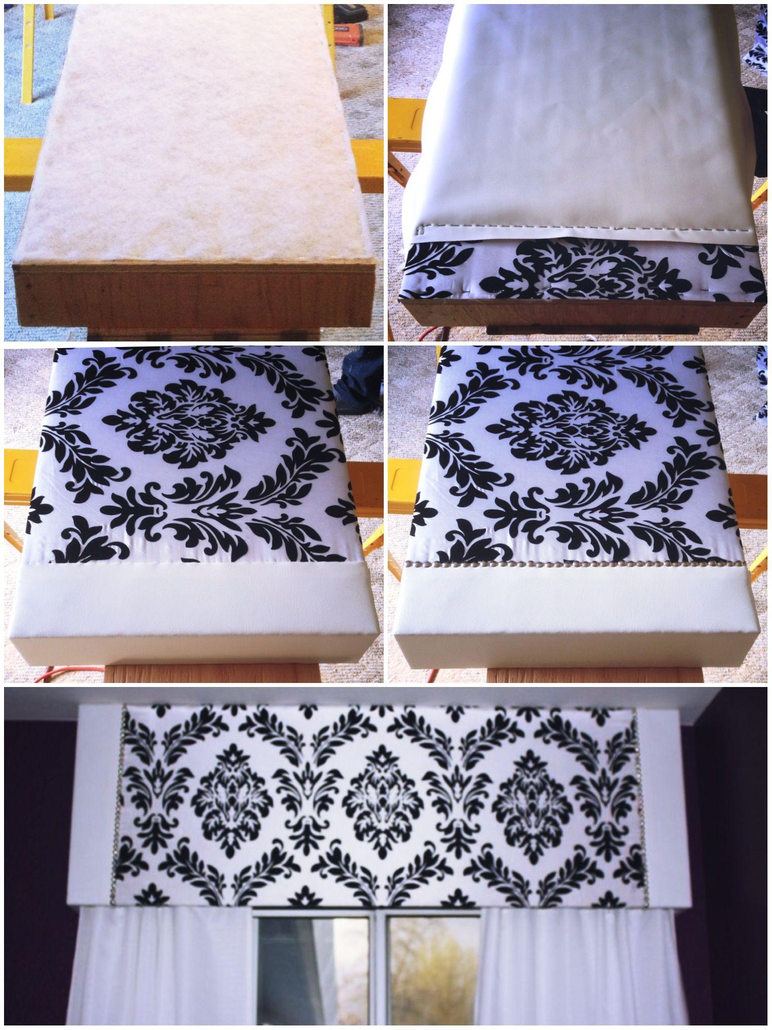 Diy valancepelmet box damask pattern damask bedding