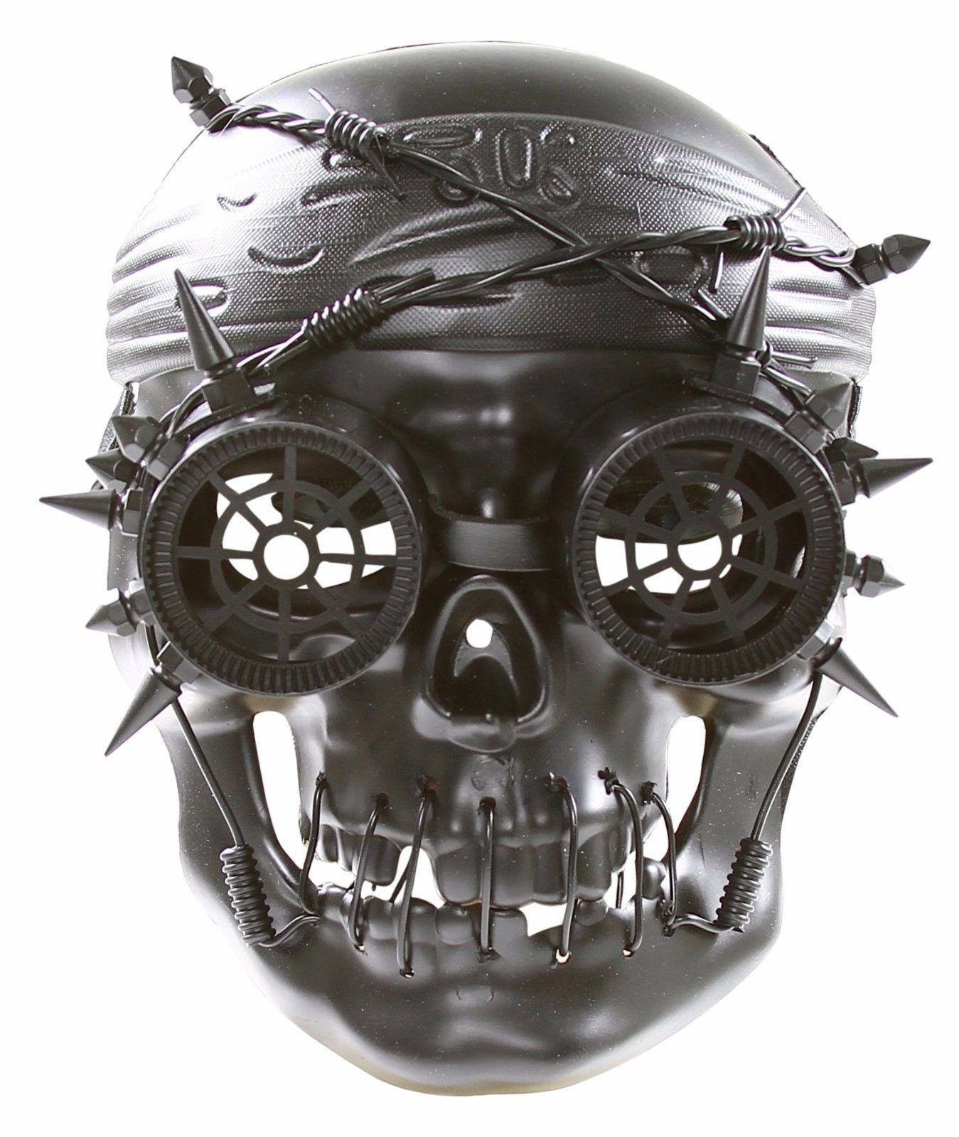 Silver Apocalypse Steam Punk Skull Mask Masquerade Costume Halloween Goth