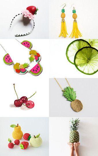 Tutti frutti by Maya Litman on Etsy--Pinned with TreasuryPin.com