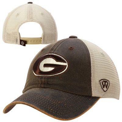 pretty nice add4d b2d68 Georgia Bulldogs Top of the World Scat Mesh Trucker Adjustable Hat – Brown