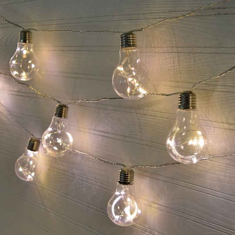 Light Bulbs On A String Endearing Edison Light Bulb Led Party String Lights  Plastic  20 Lights Review