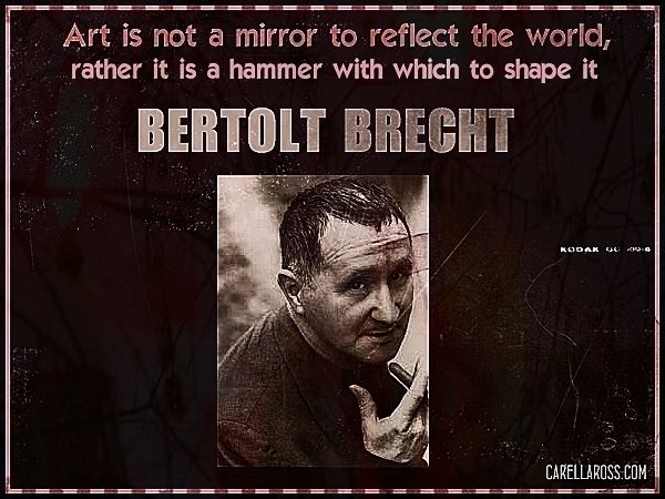 essays on the art of theatre brecht Epic theatre: the influences of bertolt brecht essay  of the art, brecht sought to  devise theater that was uncompromisingly revolutionary and candid.