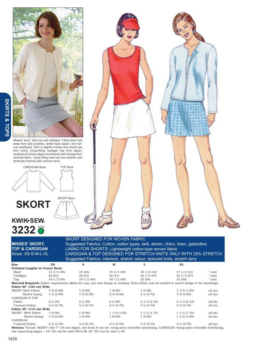 Golfrock 1 | Schnittmuster | Pinterest | Golf outfits, Golf und ...