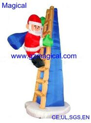 Inflatable Santa Clause Climbing Chimney Later Inflatable Santa Inflatable Inflatables