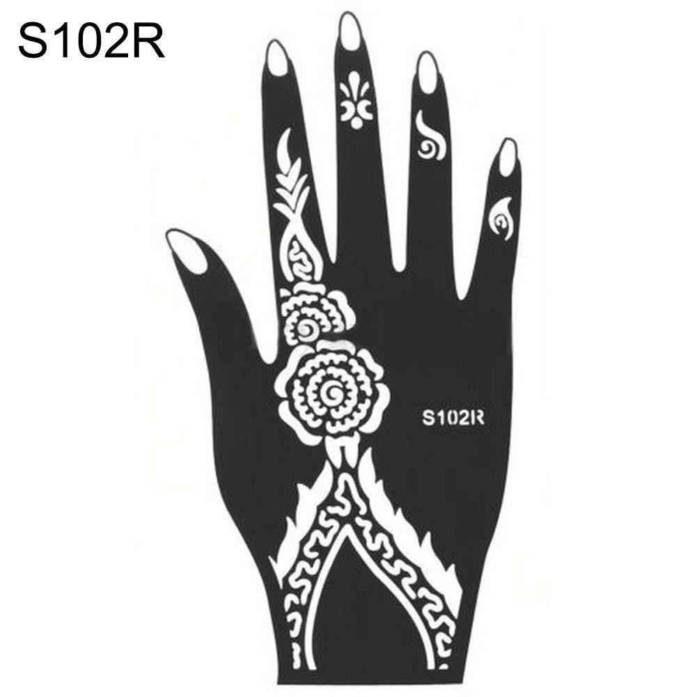 1pc india henna temporary tattoo stencil for single hand