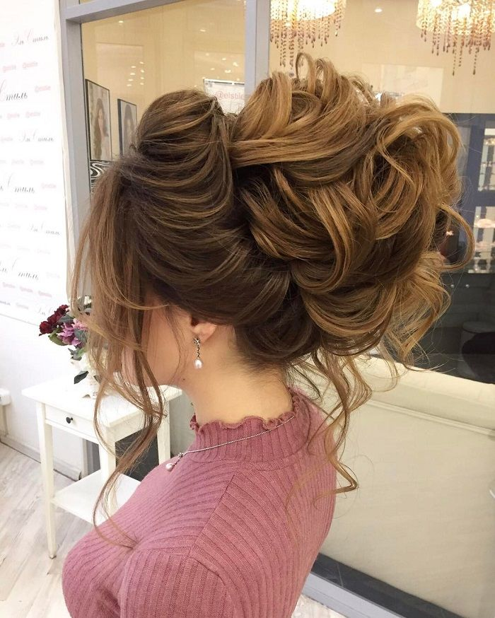 Messy Wedding Hairstyles: Drop-dead Gorgeous Loose Messy Updo Wedding Hairstyle For