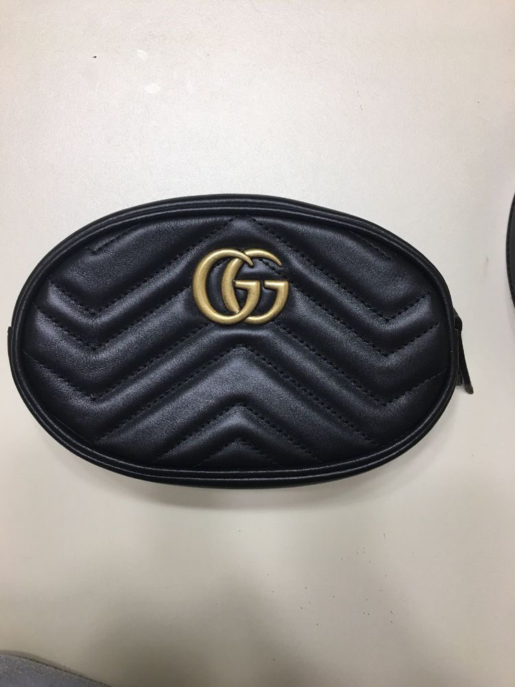 08a84f8160ca New Gucci GG Marmont matelassé Black leather belt bag (fanny pack) Size 85 # Gucci #FannyPack