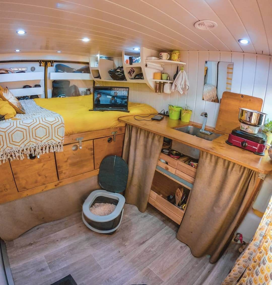 9 Campervan Kitchen Design Ideas For Van Life Portable Toilet For Camping Small Camper Interior Small Campers