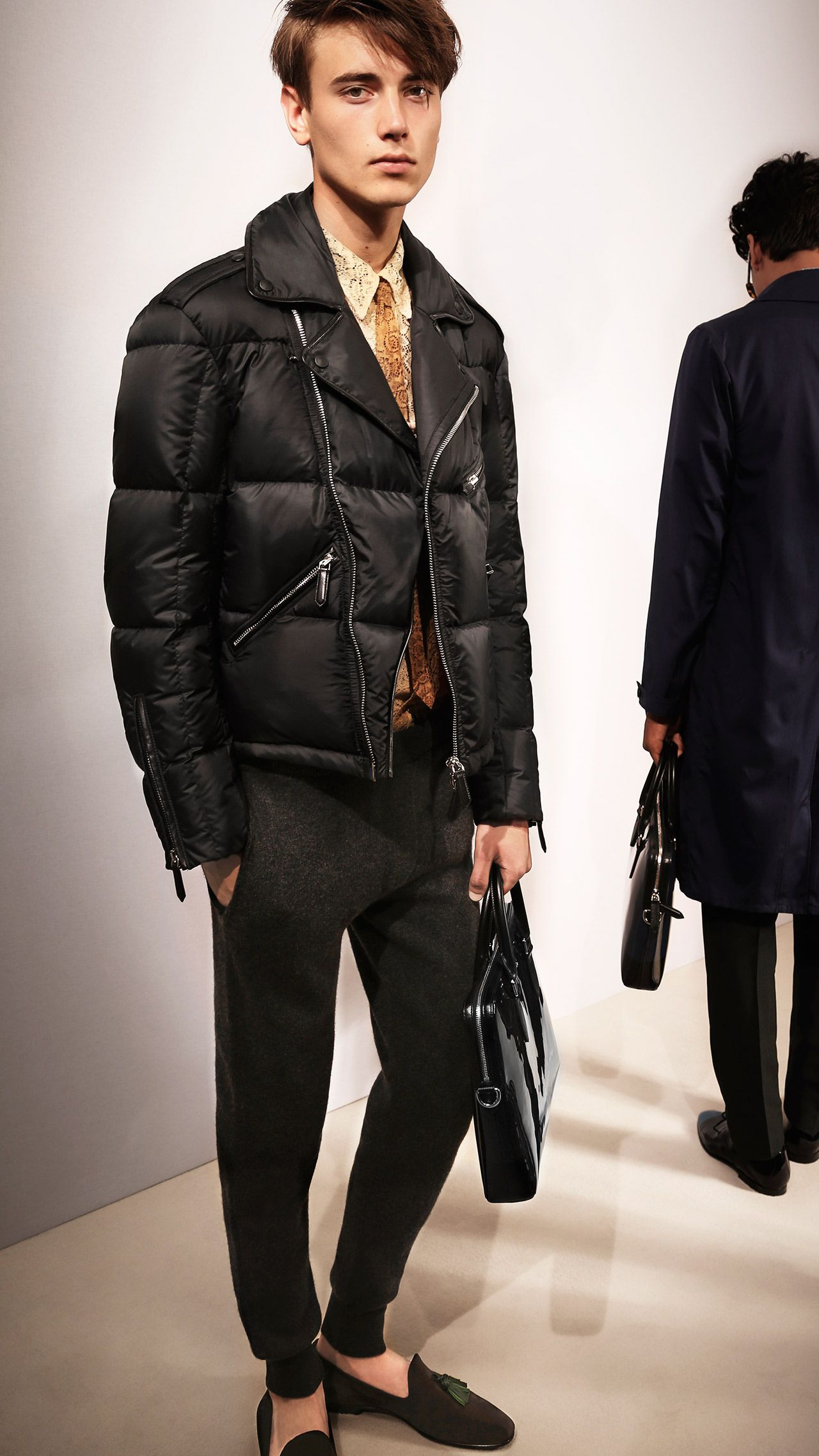 a86054e9fdb Combine a puffer jacket with a wool coat