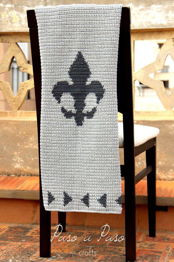 Atractivo Manta Patrón De Crochet Modelo - Manta de Tejer Patrón de ...