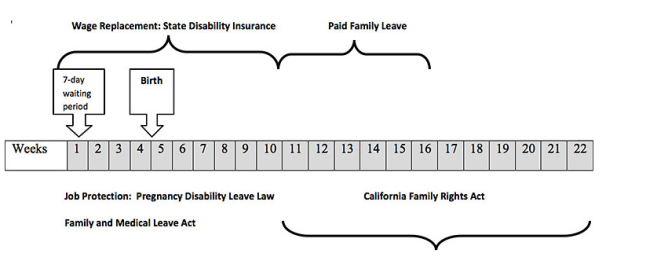 California Maternity Leave Chart For When You Can Use Different