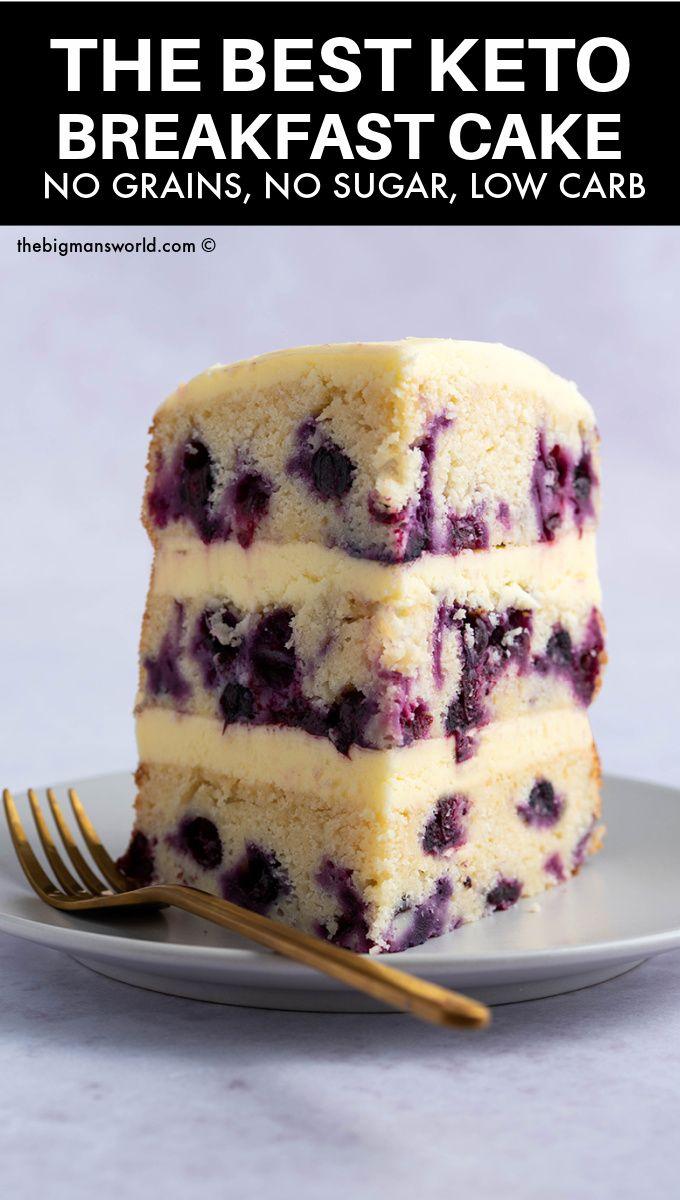 Keto Blueberry Cake (NO sugar!)