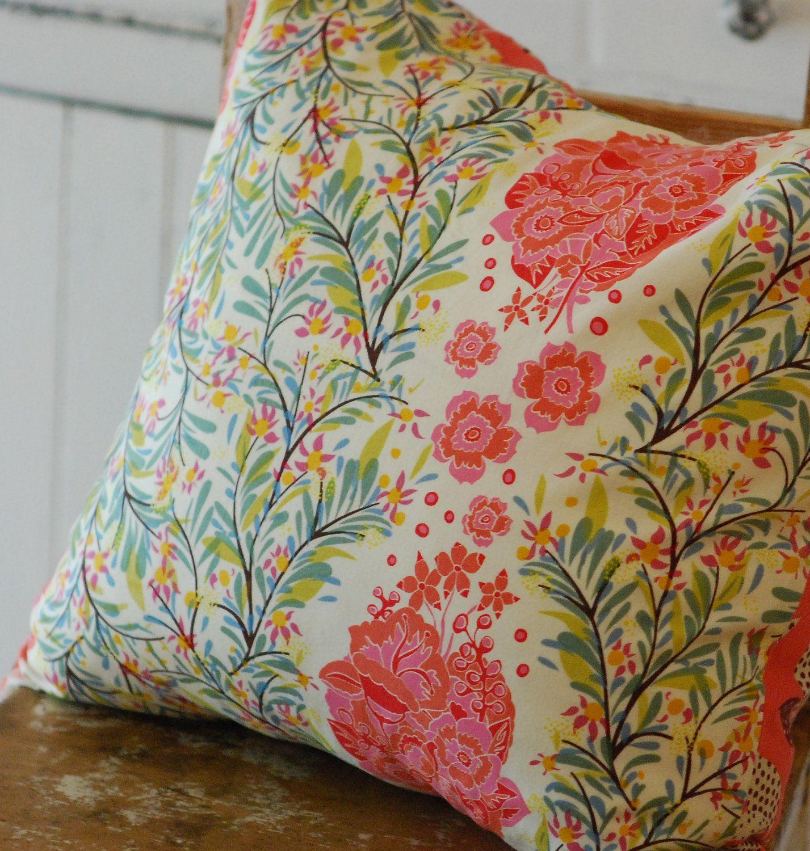 Cottage Pillow, Boho Cottage Pillow, Bohemian Throw Pillow