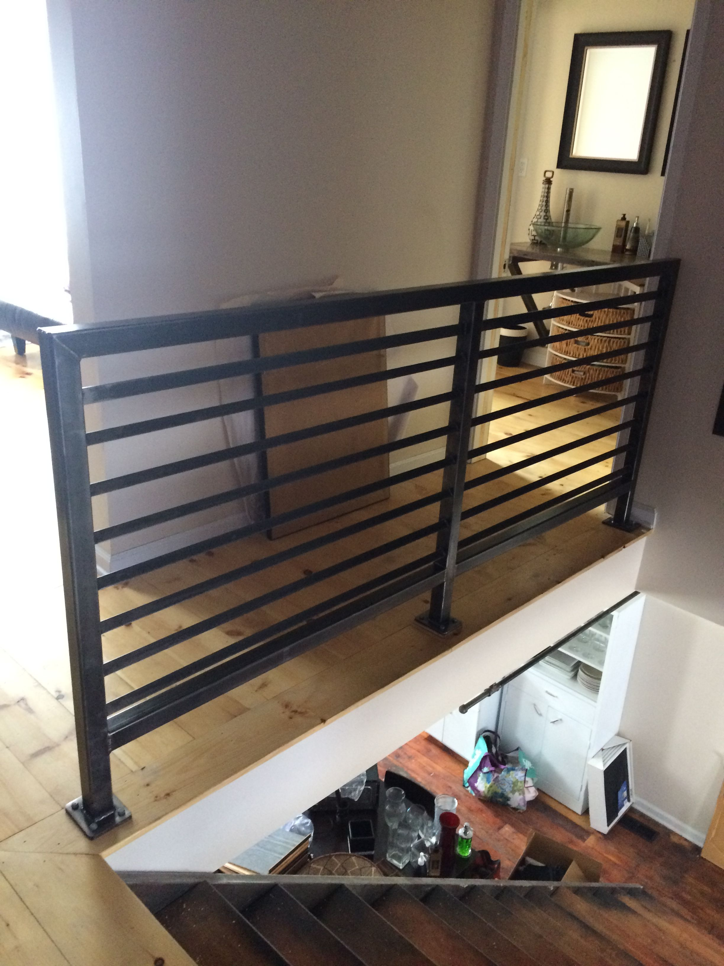 Custom Steel Handrail, Industrial Design Consists Of 2 Square Tube