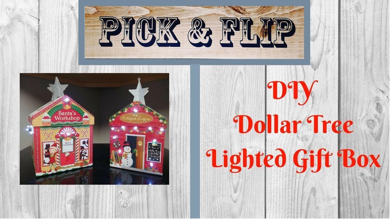Diy dollar tree lighted christmas box lighted christmas