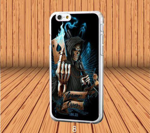 Grim Reaper Skull Skeleton for iPhone 5/5s/SE Hard Case Cover #designyourcasebyme
