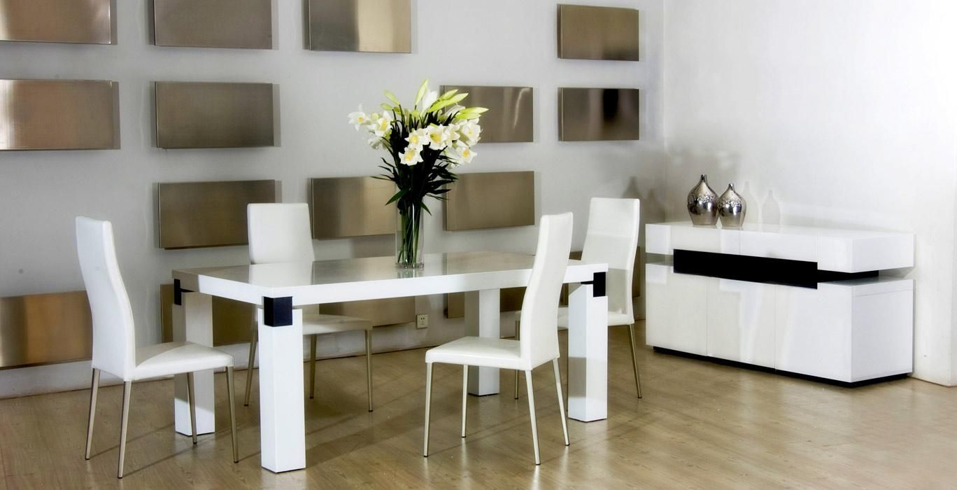 modern dining room chairs cheap | Dining Room White Luxurious Dining Furniture For Modern ...