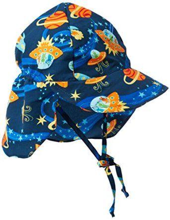 5502b0df02d27 Amazon.com  i play Baby Boys  Flap Sun Hat (Baby) - Navy - Infant  Clothing