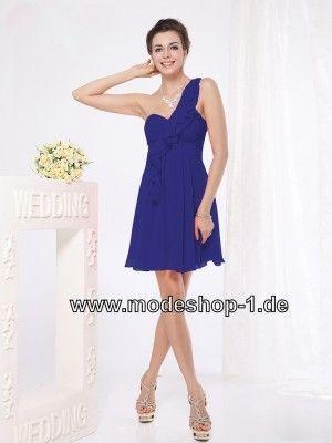 Asymmetrisches Blaues Cocktailkleid Kurzes Abendkleid | Blaue ...