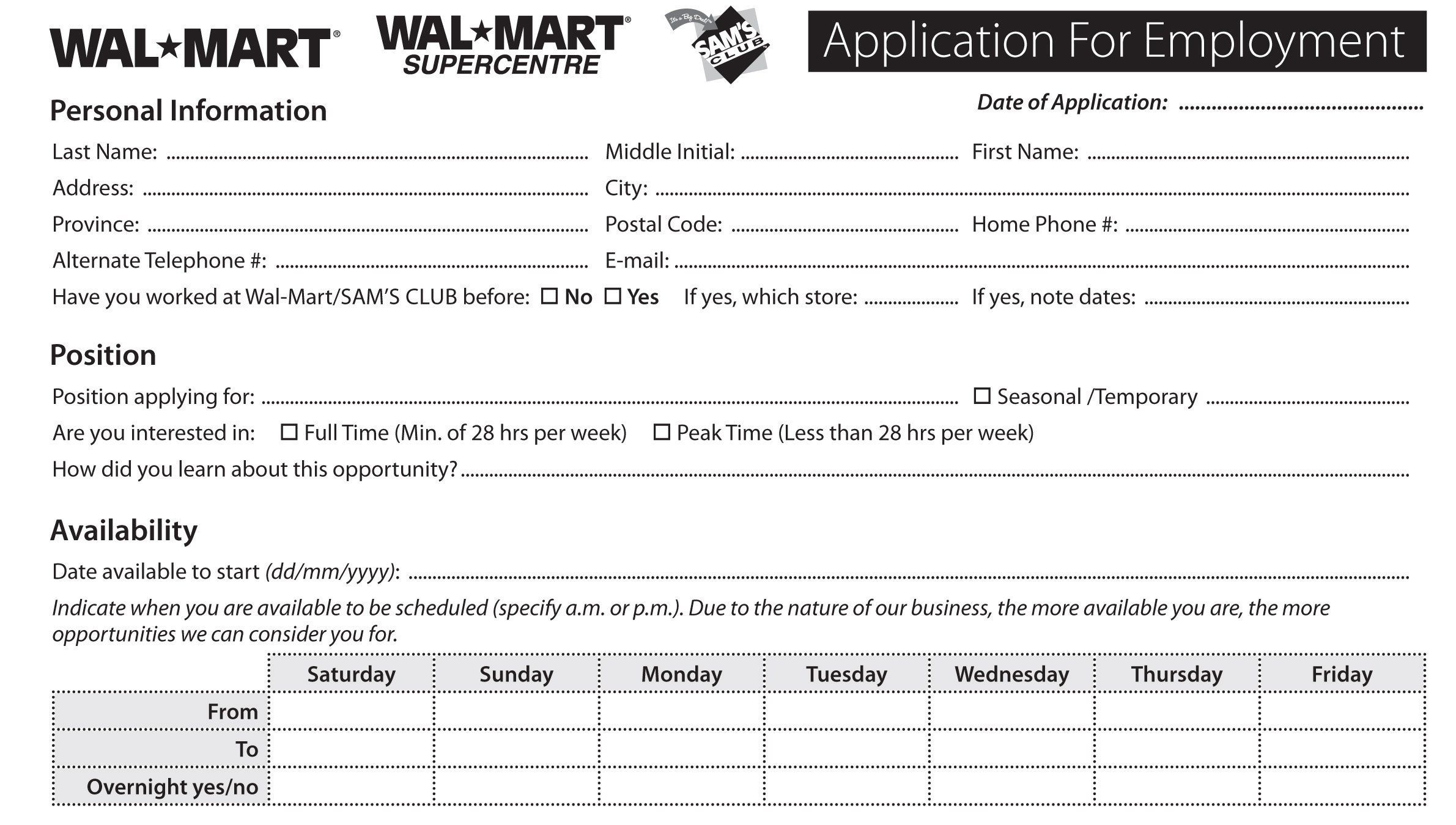 image relating to Walmart Printable Job Application called Activity Program Educate How In direction of Extensive A Task Software program