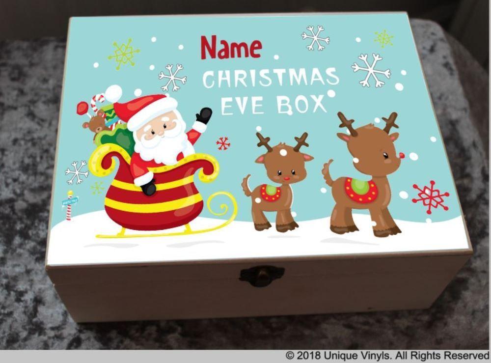 Personalised Christmas Box Sticker Christmas Eve Box digital print sticker DIY