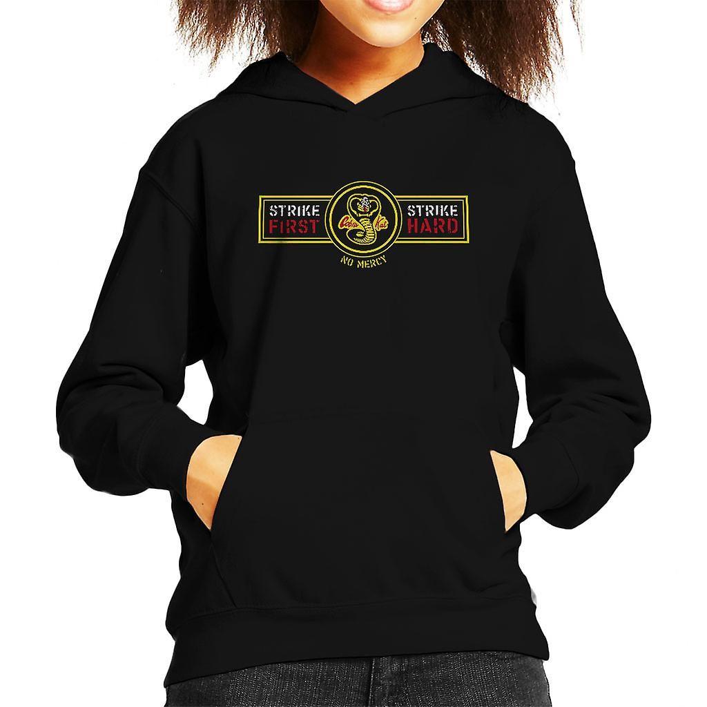 Karate Kid Strike First Strike Hard Kid's Hooded Sweatshirt, Black / X / Small (3 / 4 yrs)