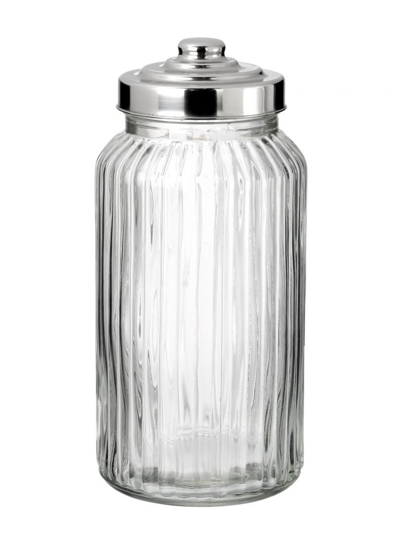 candy ribbed glass jar - Large Glass Jars