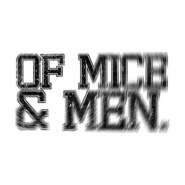 of mice and men logo | Tumblr ❤ liked on Polyvore