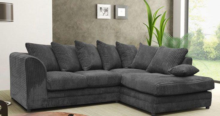 Jackson Fabric Corner Sofa Collection Charcoal Black Fabric Sofa Sofa Suites Fabric Sofa