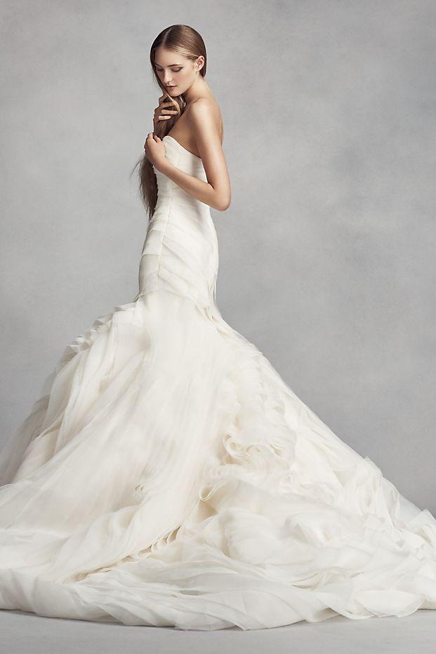 8d8d5588e5ff White by Vera Wang Bias-Tier Trumpet Wedding Dress Style VW351395 ...