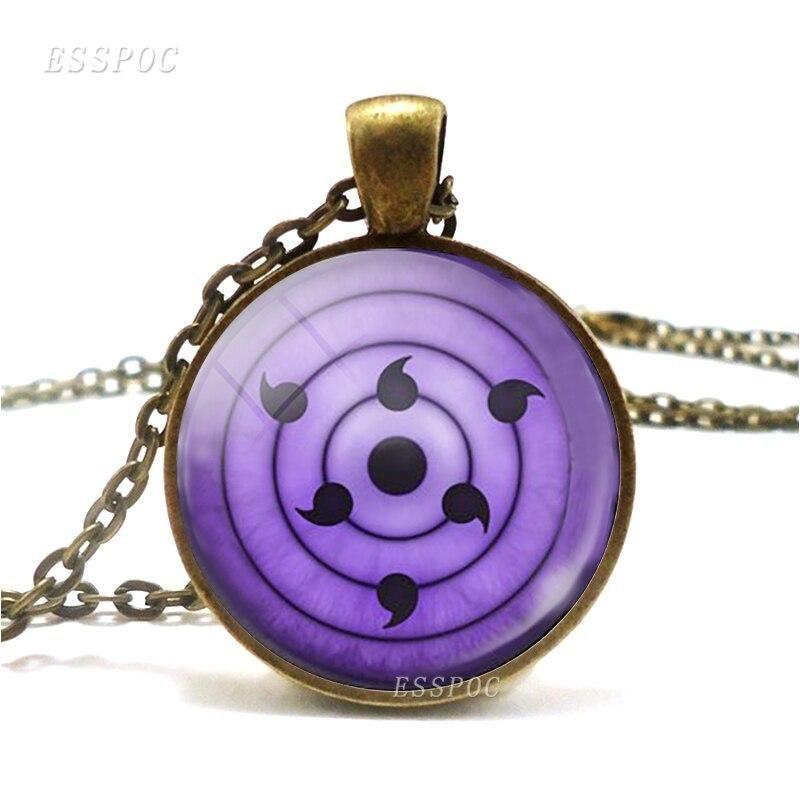 Anime Naruto Konoha Ninja Sharingan Pendant Sasuke Uchiha Eyes Cosplay Necklace