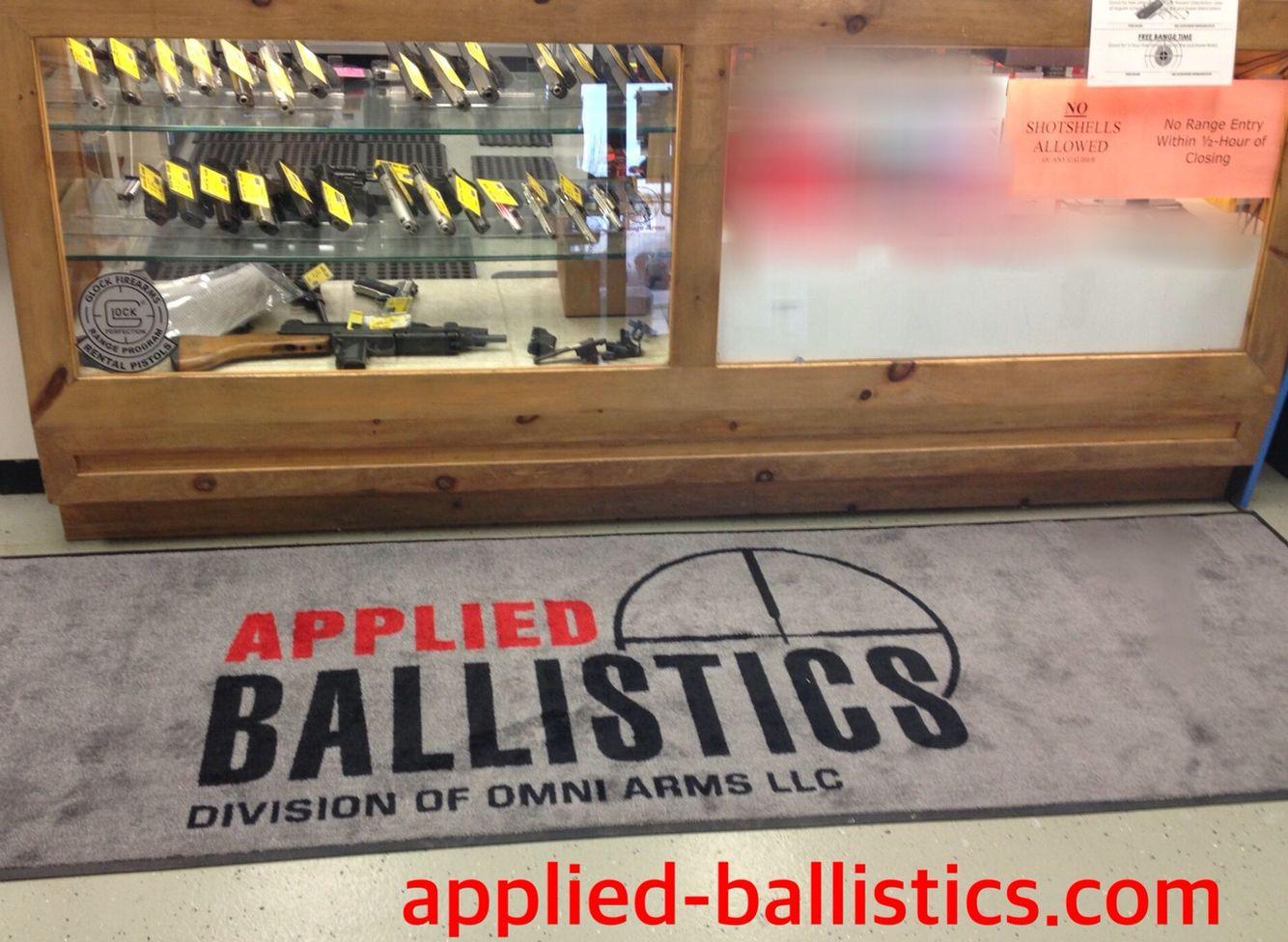 Love our Cintas mat! #appliedballistics #indoorrange #Cintas