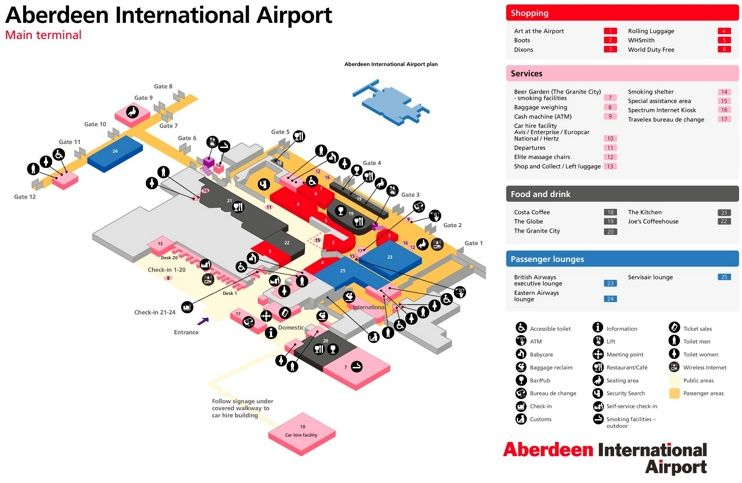 Aberdeen Airport Map Maps Pinterest City