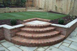 Best Curved Brick Steps Patio Steps Backyard Patio Curved Patio 640 x 480