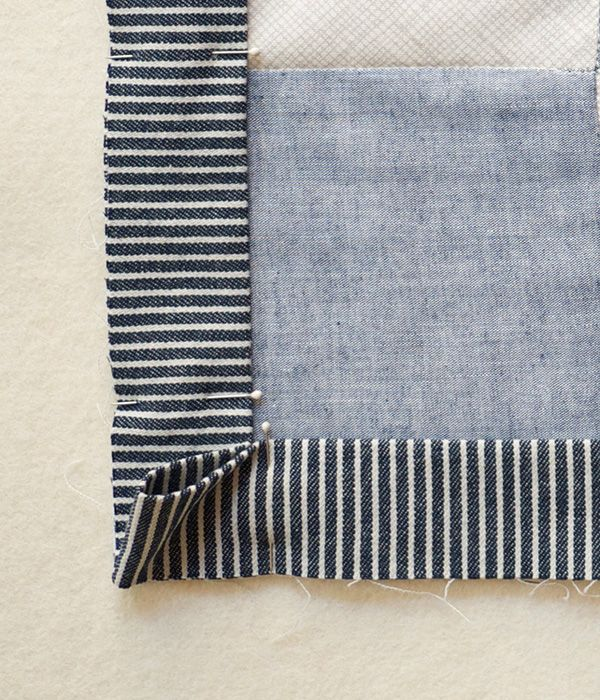 Sewing on Double Fold Binding | Purl Bee | I could make that
