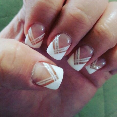 chevron french tip nails nail