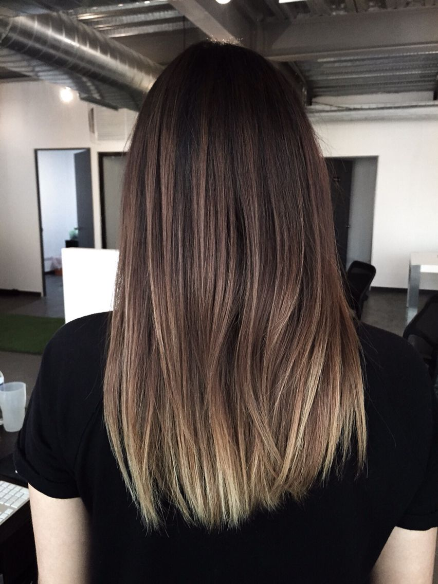 Balayage Ombre Diy Brunette To Ash Blonde My Hair