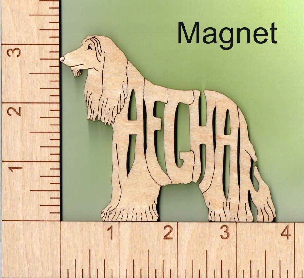 GREYHOUND dog sitting laser cut wood Magnet Great Gift Idea