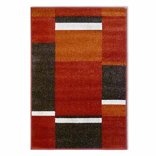 Idetex | Alfombra Frize Diseno F02 Rojo 80 x 120 cm | LIDER.cl |LIDER.cl