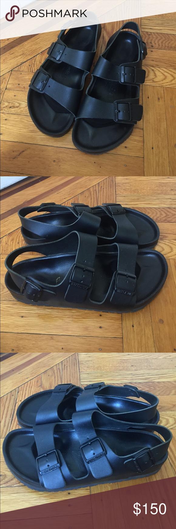ebdef4d9bff Birkenstock Milano Exquisite Black Leather Size 42. Only worn about 10  times. Birkenstock Shoes Sandals   Flip-Flops