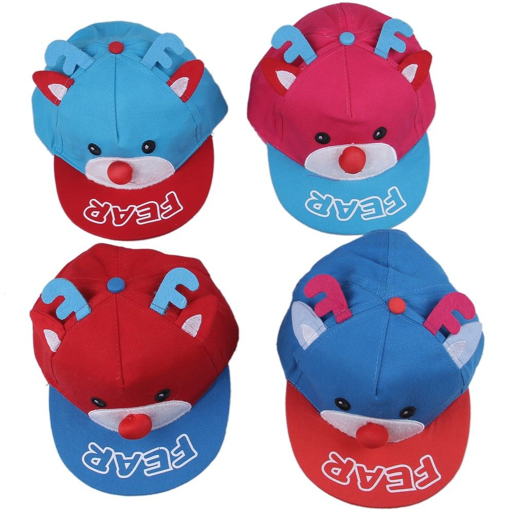 23d9a39a95f Fashion Sports Leisure Children s CarCoon Elk Design Baseball Cap Canvas  Kids Hats