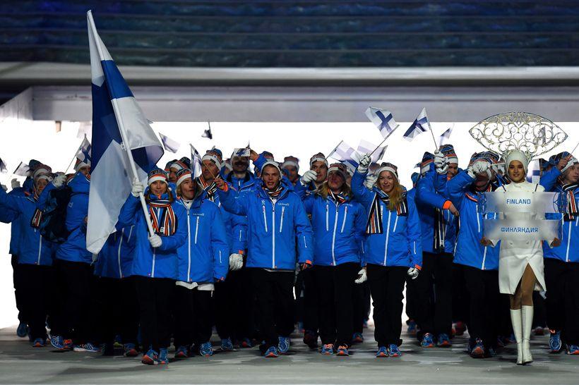 Suomen olympiajoukkueessa  - Sochi 2014 Toivotamme teille menestystä.