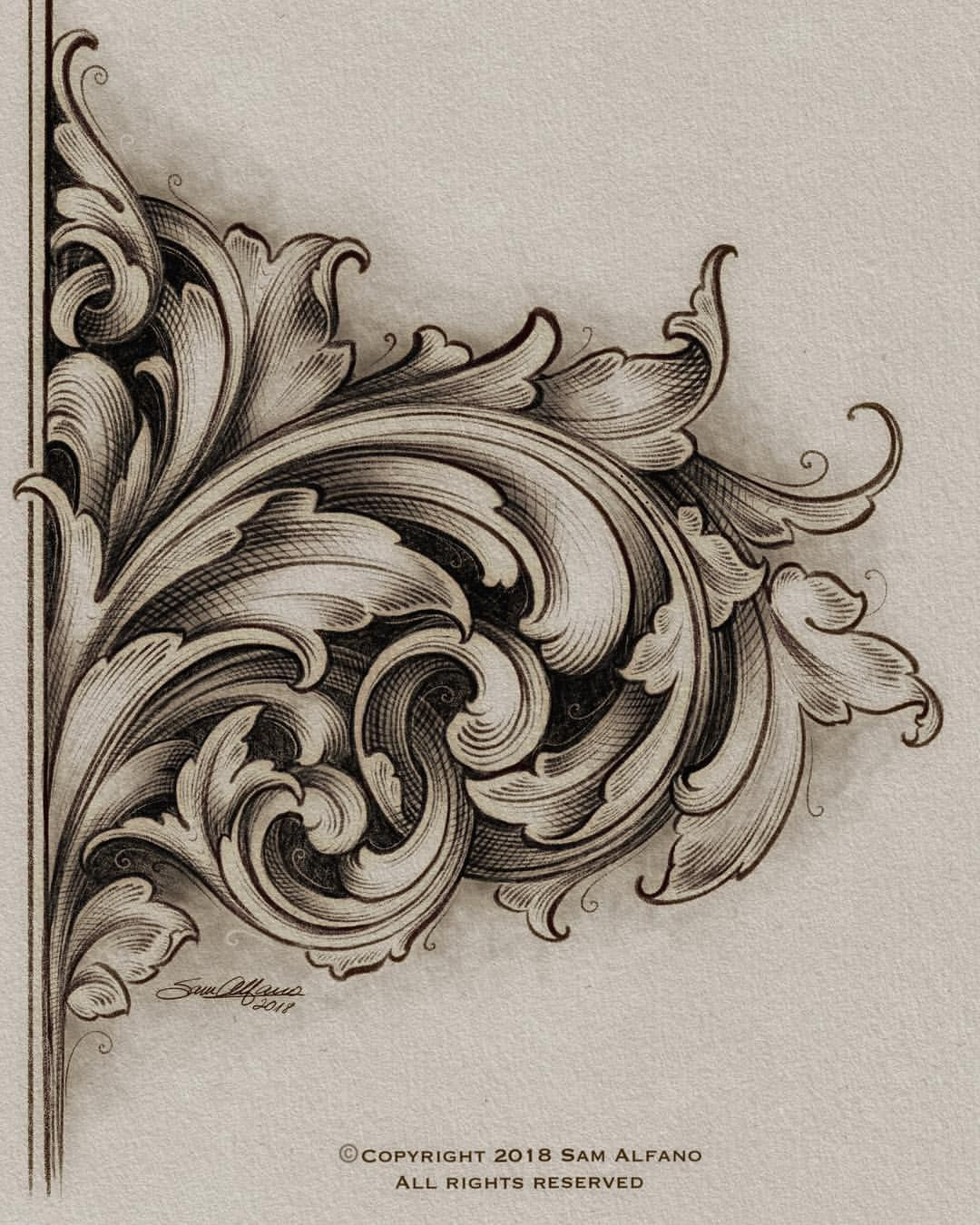 Engraving filigree bronze