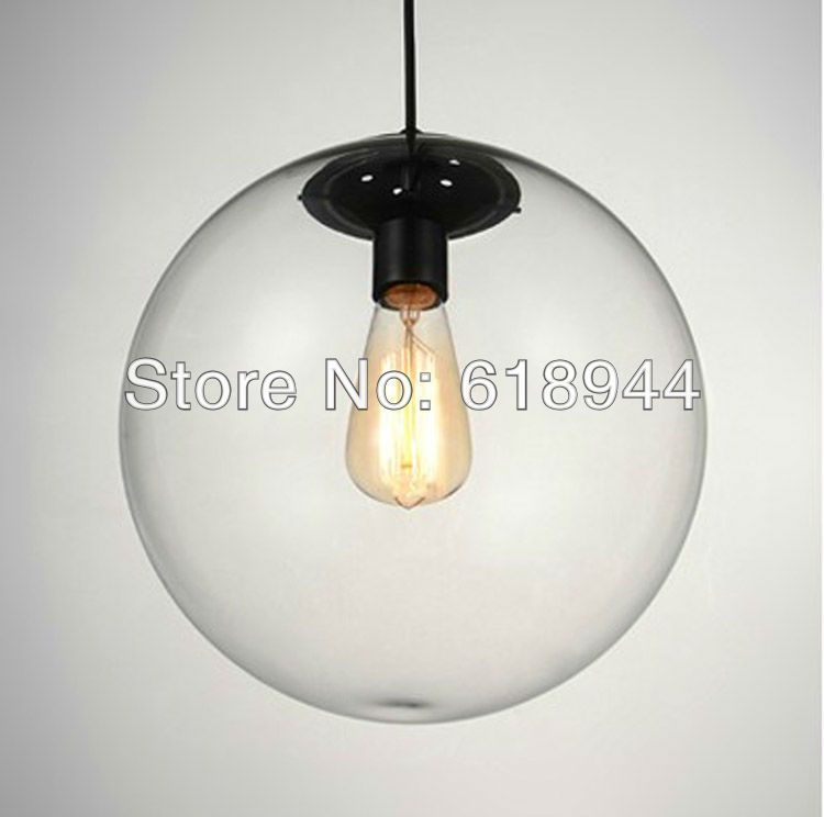 Hot selling 25 cm clear glass ball pendant lights for dining room hot selling 25 cm clear glass ball pendant lights for dining room modern hanging bar aloadofball Choice Image