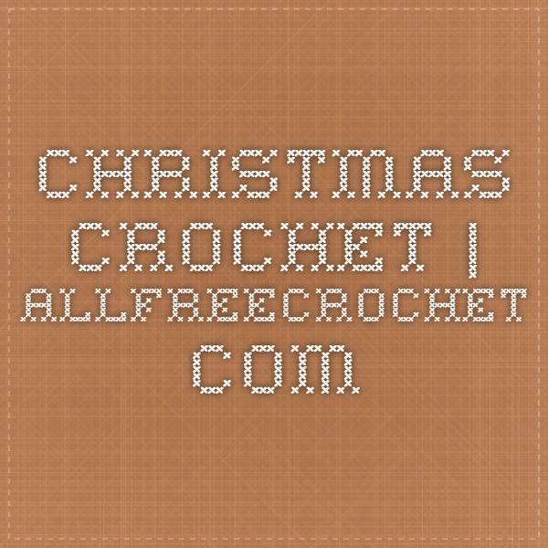 Christmas Crochet | AllFreeCrochet.com | Endroits à visiter ...