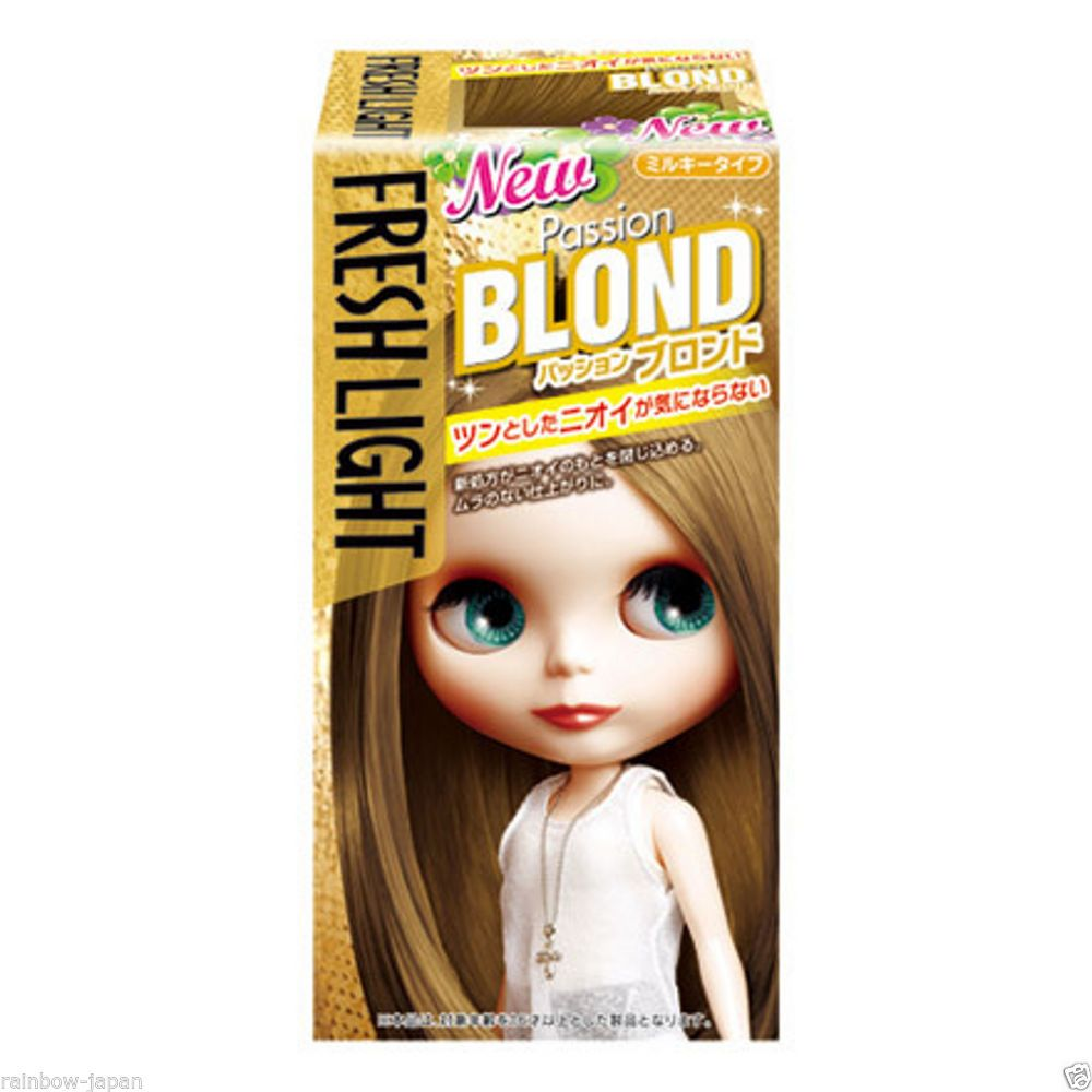 Fresh Light Milky Type Hair Color Passion Blond Color Hair Dye Kit From Japan Hair Color Dyed Hair Blonde