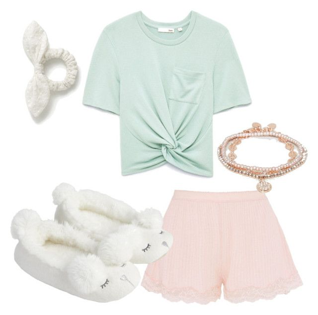 """""""Comfy pjs"""" by lfmeier on Polyvore featuring STELLA McCARTNEY, J.Crew, Accessorize and ALDO"""